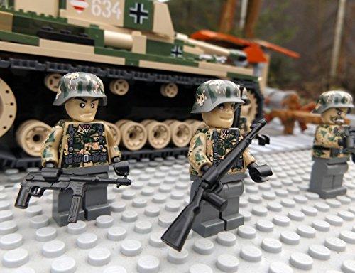 Modbrix 9919 - ✠ 2 Stück Custom Minifiguren STURMPIONIERE Deutsche Wehrmacht Soldaten aus original Lego® Teilen ✠ thumbnail