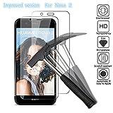 2 x Huawei Nova 2 Verre trempé protecteur d'écran, EJBOTH téléphone protection écran haute définition cribler des films protecteurs pour Huawei Nova 2 - ultra-résistant avec une dureté 9H Anti-bulle.