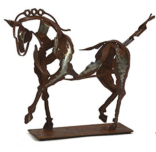 Wonderful Pferd Reitsport Metall freistehend Skulptur Statue–40cm lang