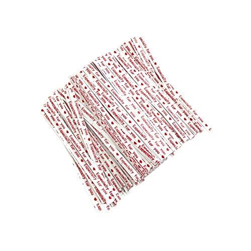 700X Toruiwa Kraftpapier Twist Krawatten Schleife Geschenk Verpackung für Cookie Biskuit Süßigkeiten Taschen 9 * 0.4cm (Weiß)