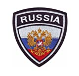 MAREL Patch Flag Flag RUSSIA (Russia) patch Embroidery embroidery termoadhesivo cm 6,5 x 5,5