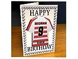 Super League Rugby League Jersey Geburtstag Kühlschrank Magnet Karten–Jeder Name, beliebige, jedes Team, kostenlose Personalisierung., Leigh Centurions Magnet Card