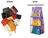 Ducomi Poppins Organizzatore per Borse con Pratico Gancio per Appendere all'Interno dell'Armadio, Purple