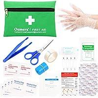 Botiquín de primeros auxilios,Oumers Bolsa Médica Portátil Kit Mini bolsa de primeros auxilios compacto para el hogar, el coche, el recorrido, el lugar de trabajo y el equipo al aire libre del rescate de emergencia