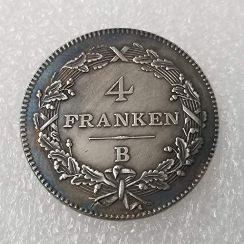 YunBest 1801 Münzen aus Schweizer Franken - Beste 4 Franken alte Münze zum Sammeln - altes Original Pre Morgan Dollar - brillant, unzirkuliert/Sammlerstück -