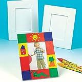 Portafoto Fai Da Te Grandi per Bambini da Dipingere, Decorare ed Esporre (confezione da 5)