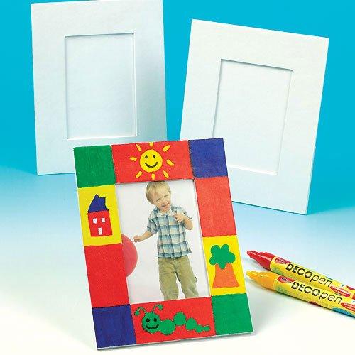 Große Bilderrahmen für Kinder zum Bemalen und Dekorieren (5 Stück)