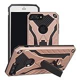 """Cover iPhone 7 Plus/8 Plus?5.5""""?, MUTOUREN [Solida, Robusta et Rigida] Cover Kickstand Silicone e PC, Custodia Paraurti Rugged resistente adatta per iPhone 7 Plus/8 Plus?5.5""""? - Oro rosa"""