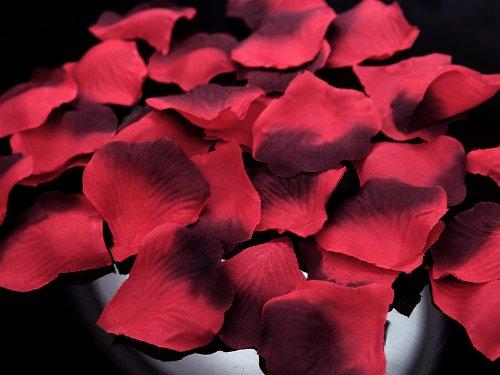 Deko - Rosenblätter zum streuen 100 Stück Hochzeit Tischdeko (rot Farbverlauf)