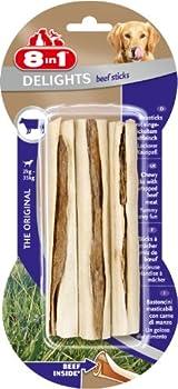 8in1 Delights Beef Sticks - Sticks à Mâcher garnis de b½uf pour Chien - 3 pièces