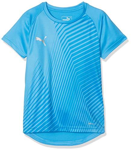 Puma Kinder ftblNXT Graphic Shirt Core Jr T, Bleu Azur-Red Blast, 110