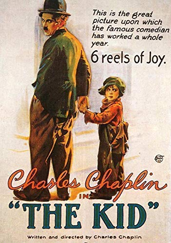 Generic The Kid Film Foto Poster Klassisches Film Kunst Charlie Chaplin The Tramp 001 (A5-A4-A3) - A5 - Charlie Chaplin-film Poster