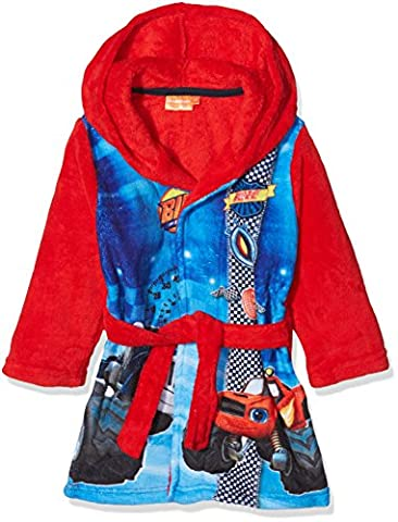 Sun-City Blaze Fire, Robe de Chambre Garçon, Red, 7-8 Ans