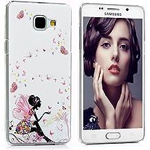 Funda para Samsung Galaxy A5 2016 - Lanveni Chic Elegante Carcasa Rigida PC ultra Slim para Samsung Galaxy A5 2016 Protective Back Case Cover - Patrón Hada de la mariposa Diseño