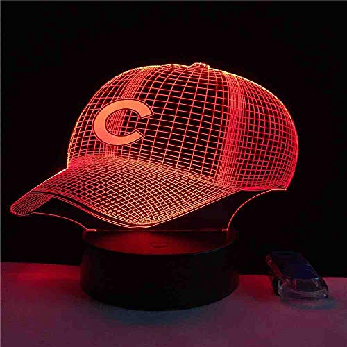 BJDKF 3D Hut Baseball C Helm Cap Led Lampe Sport Club Team Logo Usb Rgb Controler Taschenlampe Tragbare Laterne Adapter Geschenk Junge Spielzeug
