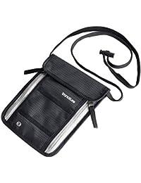 Tronature Brusttasche mit RFID Schutz Blau - Herren & Damen Travel Wallet für Reisepass, iPhone - Wasserabweisend und flach - Umhänge Brustgeldbeutel versteckt - Reise Zubehör, Bauchtasche Organizer