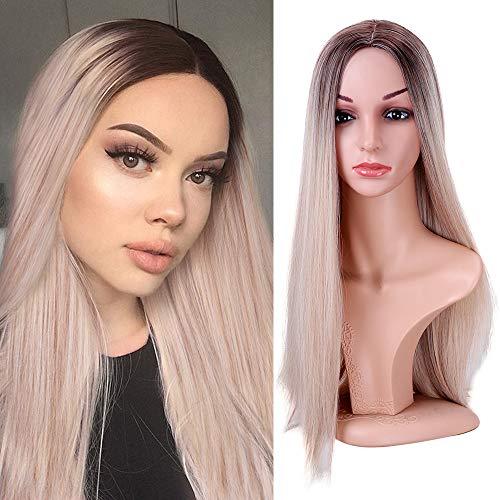 YMHPRIDE pelucas color mezclado Ombre peluca rubia
