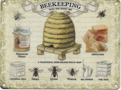 bee-keeping-metal-sign-beekeeping-sign-by-original-metal-sign-co
