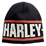 GZM Cappello Berretto Originale Harley Davidson Reversibile Knit Hat 99493-18VM Biker Moto Custom Idea Regalo