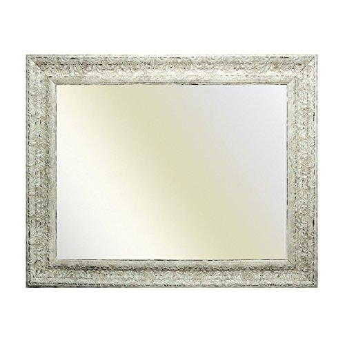Neumann Bilderrahmen Barockrahmen weiß fein verziert 843 AVO, Spiegel, 50x70 cm