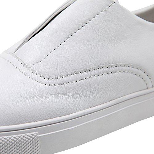 AiJiaEr®Chaussures Multisport Outdoor Femme Sneakers Basses Mixte Ddulte Tendances De La Mode Chaussures De Sport Basket Vêtements Femmes Temps Libres 2049 Blanc