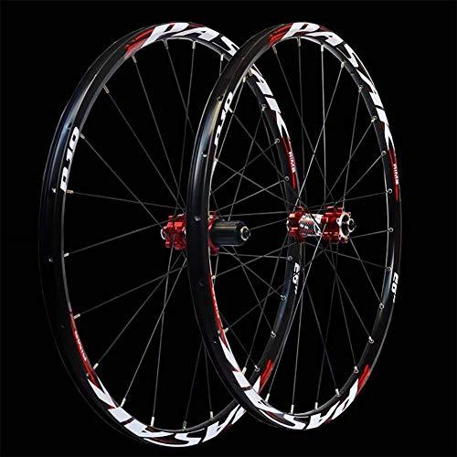 ch-Leichtmetallrad Rennrad Laufradsatz Scheibenbremse,Red,27.5inch ()