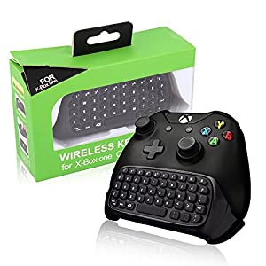 BestFire Xbox One Game Controller Tastatur 2.4G Mini Wireless Chatpad Message Audio-Buchse für Microsoft Xbox One Schwarz – Einfaches Pairing