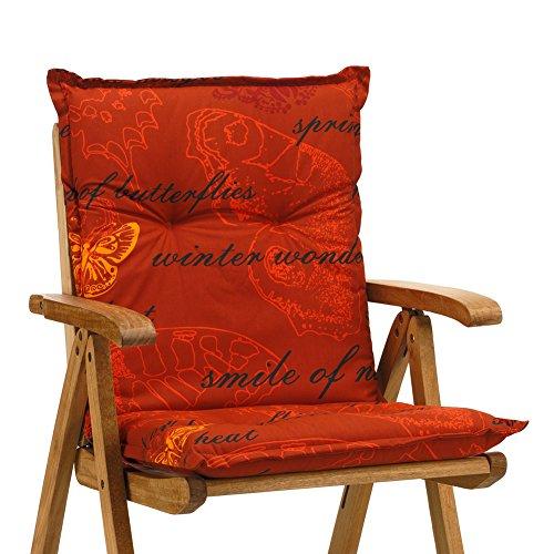 4 Sessel Auflagen 8 cm dick 103 cm lang in terrakotta Ibiza 40240-440 (ohne Stuhl)