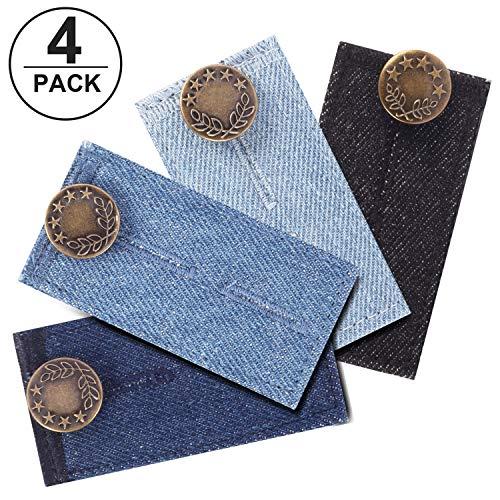 Yosemy Hosenbunderweiterung für Jeanshosen 4Stücke Hosenerweiterung Einstellbare Elastische Extender für Hosen Jeans Schwangerschaft