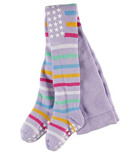 FALKE Unisex Baby Multi Stripe Strumpfhose, Lupine, 62-68 - Multi Farbe-plüsch