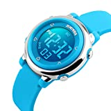 1100 Children Digital Display Silicone Band LED Screen Waterproof Digital Watch (BLUE)