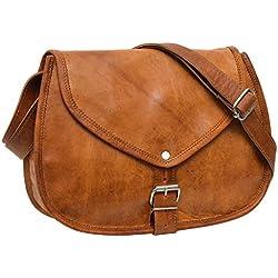 Gusti Leder nature Charleen Handtasche Damen Frauen Umhängetasche Vintage Shoppingtasche Damentasche Party Freizeit Braun K61b