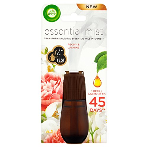 Airwick Essential Mist ambientador recambio, peonía y jazmín, pack de 3 (3 x 20 ml)