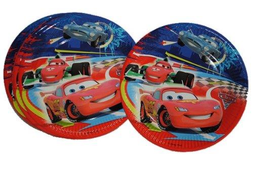 10 tlg. Set Pappteller Cars II Teller Küche Essen Kinder Kindergarten Pappe