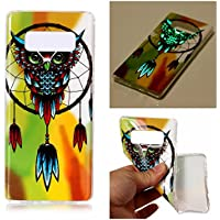 Coque Galaxy Note 8, BONROY® Samsung Galaxy Note 8 Housse Luminous Effect Noctilucent Green Glow in the Dark Ultra Mince Souple Gel TPU Bumper Poussiere Resistance Anti-Scratch Coque Housse Pour Samsung Galaxy Note 8 - Hibou