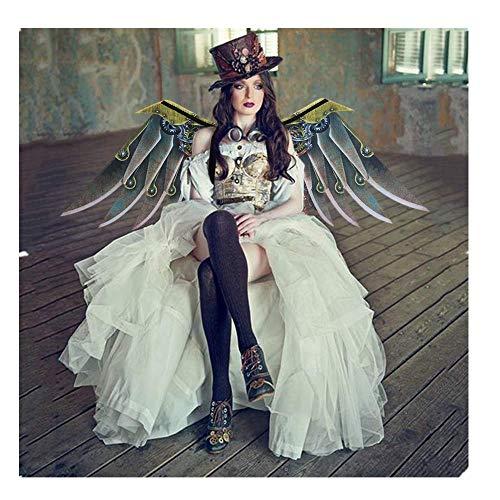 Flügel Kostüm Dasongff Halloween Gothic Fallen Engel Große Flügel Verkleiden Sich Karneval Fasching Adler Party Kostüm Steampunk Cosplay Rollenspiel Dress Up Kostümzubehör Unisex Interessant (Adler Kostüm Flügel)
