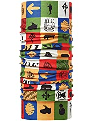 original buff camino high uv buff® santiago - high uv buff para unisex, color multicolor,  adulto