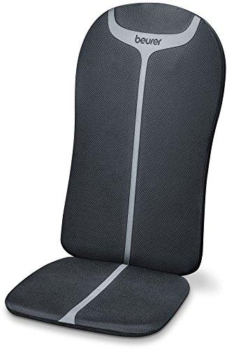 Beurer MG 205 Shiatsu-Sitzauflage, Rückenmassage, Licht- und Wärmefunktion, schwarz/grau