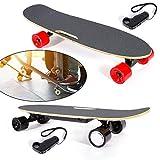 HaroldDol Skateboard électrique avec télécommande 4 Roues Ahorn Deck Scooter Vitesse maximale 20 km/h
