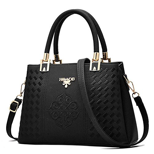 AILEESE  Zykly7726, Borsa Messenger  Donna nero