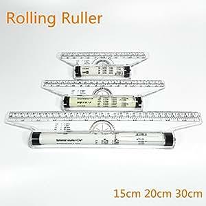 rouleau règle de la règle parallèle 15 20 30cm pied universelle échelle de l'équilibrage de la règle de l'angle Chiban reglas de dessin