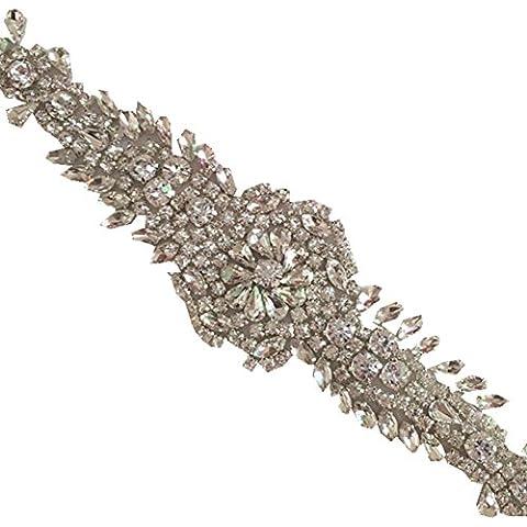 TRLYC Champagne perline applique per matrimonio sash