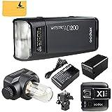 Godox AD200TTL 2.4G HSS 1/8000s Pocket flash luce doppia testa 200WS 2900mAh con batteria al litio torcia + Godox x1t-n Trigger flash per Nikon fotocamera flash Lightning kit immagine
