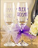 Tutu CHAMPAGNE Stars - personalised|glass|glasses|bride|bridesmaid|gift|name|mother of the bride|STARS