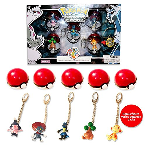 Pokemon Diamond and Pearl PVC Keychains 5-pack Other Keyrings