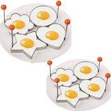 Ardisle Lot de 4x en acier inoxydable Pancake Anneau Moule Moule à œufs au plat Shaper de cuisine Outil Toast