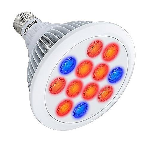VicTsing E27 36W Pflanzenlampe LED Wachstum Plant Grow Licht Lampe Pflanzenleuchte mit Full Spectrum (660nm und 630nm rot und 460nm Blau) für Garten Gewächshaus wächst und Hydrokultur, Zimmerpflanzen, Blumen und