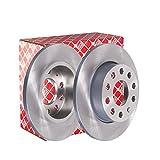 febi bilstein 36215 Bremsscheibensatz (hinten, 2 Bremsscheiben), Lochzahl 5