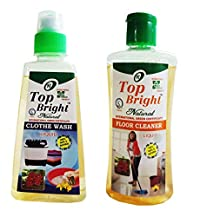 Top Bright Floor Cleaner 250ml and Cloth Wash Liquid 300ml