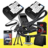 Two Canon EOS 6D Digital SLR Camera 2400 mAh LP-E6 Lithium Ion Replacement Battery + External Rapid Charger + 4GB SDHC Class 10 Memory Card + 77mm UV Filter + SDHC Card USB Reader + Memory Card Wallet + Deluxe Starter Kit + Mini HDMI Cable Bundle DavisMAX 6D Accessory Kit